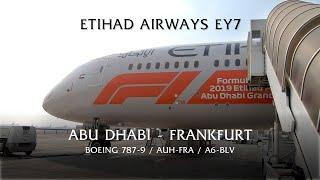 FLIGHT REPORT - ETIHAD Boeing 787-9 Dreamliner, EY7 Abu Dhabi AUH to Frankfurt FRA. Economy class