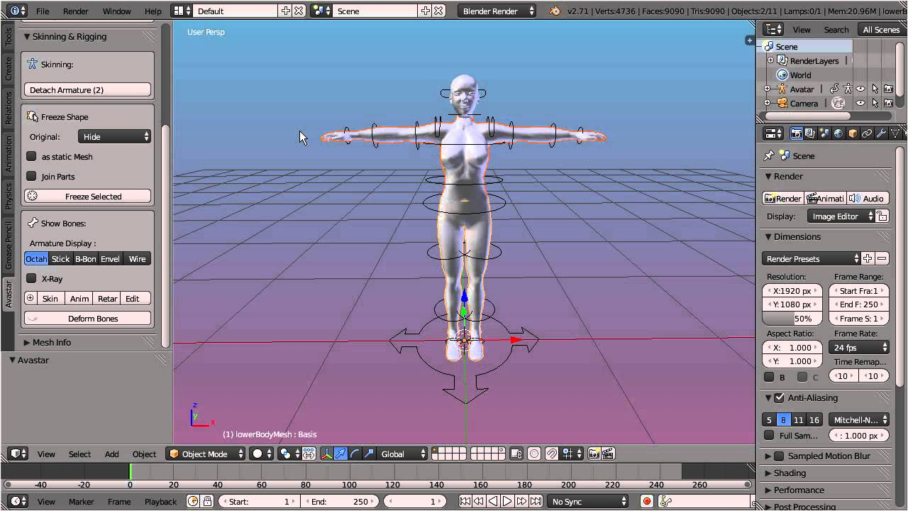 Tutorial - Create a Bodysuit with Avastar - Mesh - Second Life Community