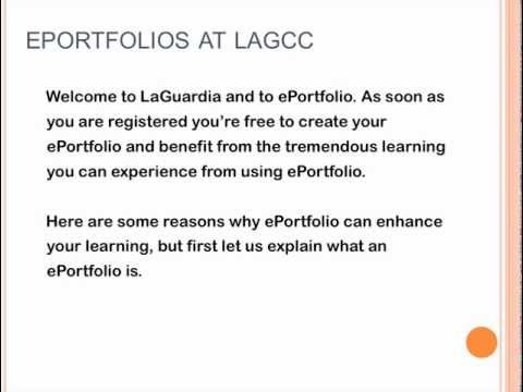 Introduction to ePortfolio @ LAGCC