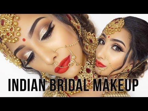 Glam Traditional Indian Bridal Makeup