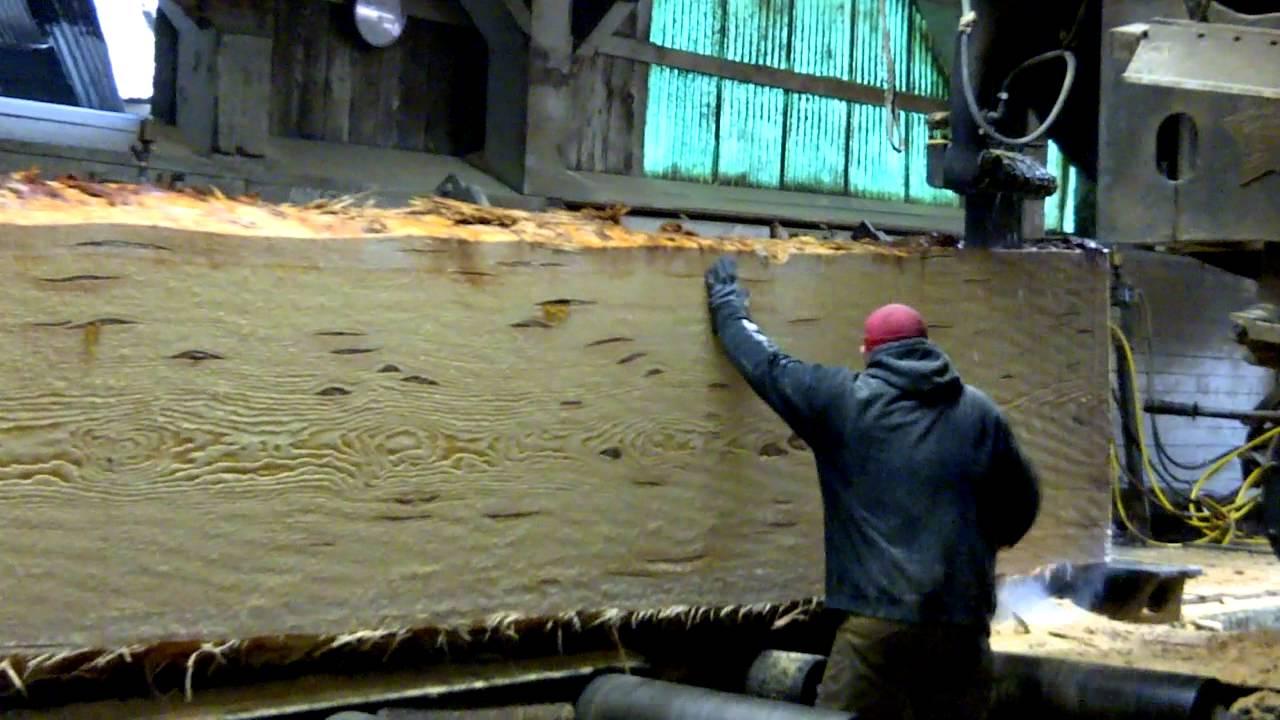 Oakes Lumber Company: Main Saw Cutting Huge Doug