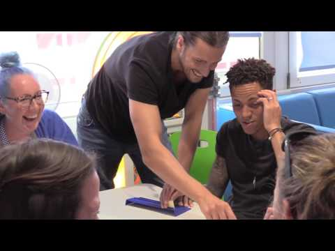 Kyle Bennett and Christian Burgess visit Teenage Cancer Trust