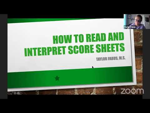 How to Read and Interpret a Score Sheet