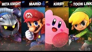 Meta Knight/Toon Link/Mario/Kirby