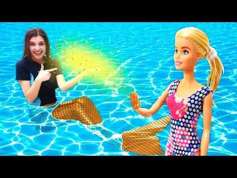 Русалки ваквапарке— Приключения Барби иКена— Барби ПРЕВРАТИЛАСЬ ВРУСАЛКУ!