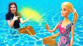 Видео для детей. Русалки ваквапарке— Приключения Барби иКена— Барби ПРЕВРАТИЛАСЬ ВРУСАЛКУ!