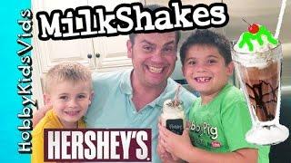 Hersheys Milkshake Machine! Goo Slime Topping + Whipped Cream Oreo Sprinkles Hobbykidsvids