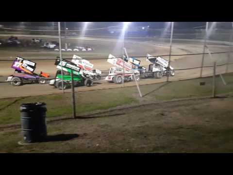 Sprint Car Roll Heat 3 - Bruce Pitt - Latrobe Speedway 18-03-17