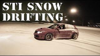 Subaru STi SNOW DRIFTING!