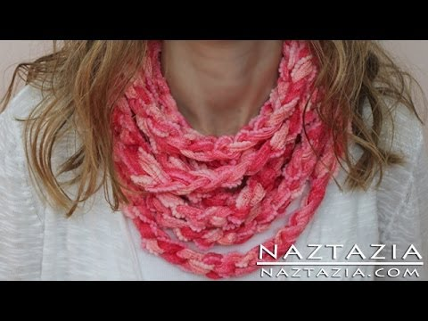 DIY Learn How to Make Infinity Scarf Circle Loop Cowl Beginner ...
