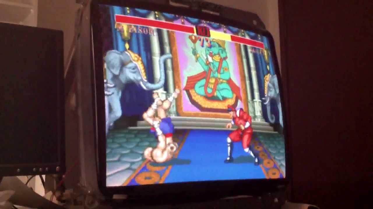 Street Fighter 2 On Nanao Arcade Monitor Mame Youtube