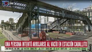 Una mujer intentó arrojarse al vacío en la estación Caballito