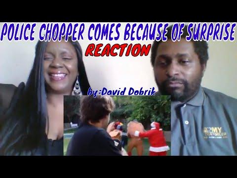 David Dobrik - POLICE CHOPPER COMES BECAUSE OF SURPRISE!! REACTION