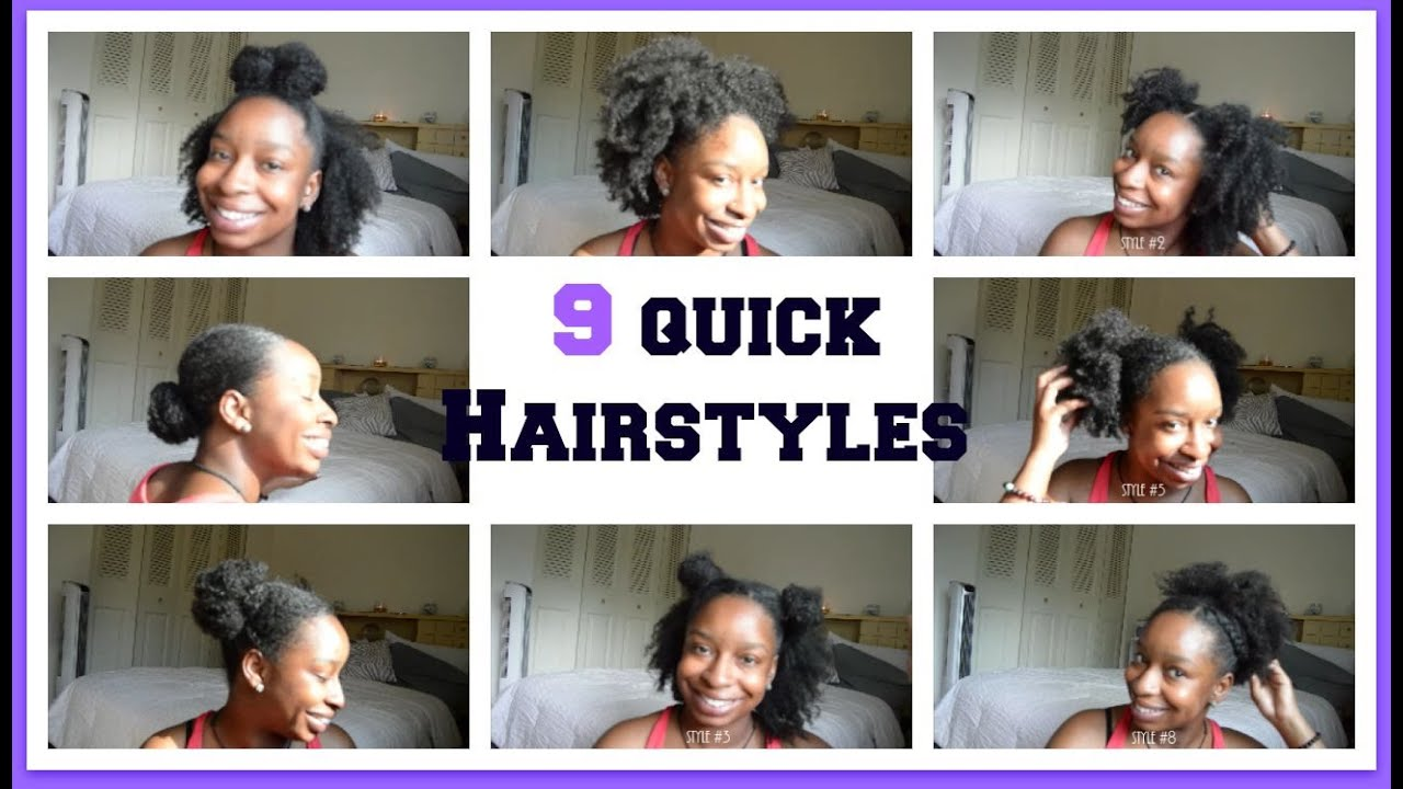 9 Easy Hairstyles For School: 9 Quick Back To School Natural Hairstyles