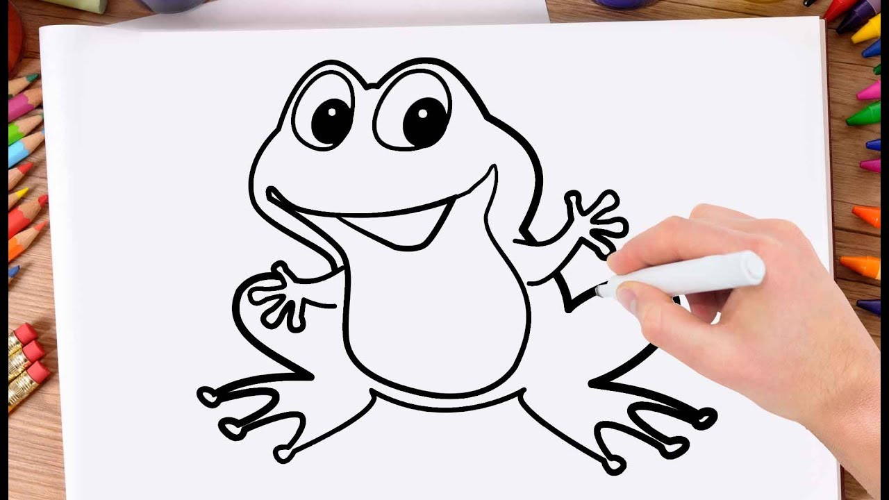 How To Draw A Frog Step By Step For Kidsdrawing Frog Very Easy And Simple