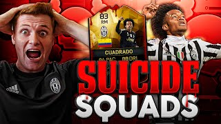 FIFA 16 - OMFG HUGE WAGER!!! | IF CUADRADO SUICIDE SQUADS!!!