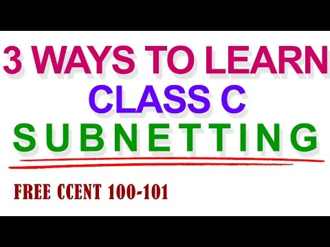 TCP/IP and Subnet Masking: 3 WAYS TO LEARN CLASS C SUBNETTING