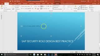 sap security role design best practice