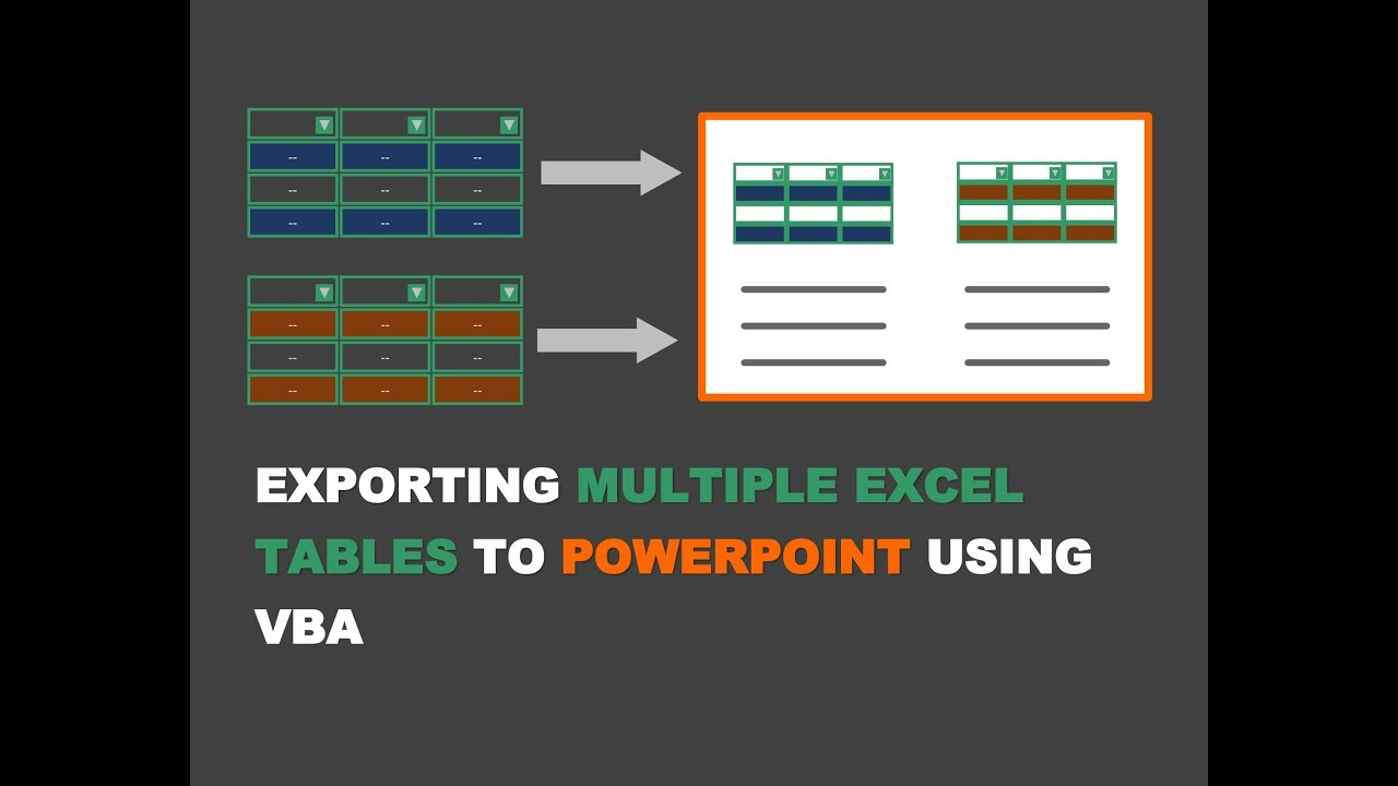 Exporting Multiple Excel Tables From Excel To PowerPoint Using VBA