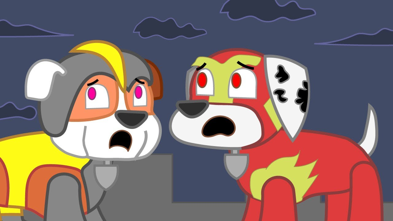 Paw Patrol Pups Marshall and Rubble in Shrek Parody Animation