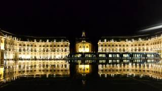 Day and Night, Water Mirror at Palace de la Bource, Bordeaux