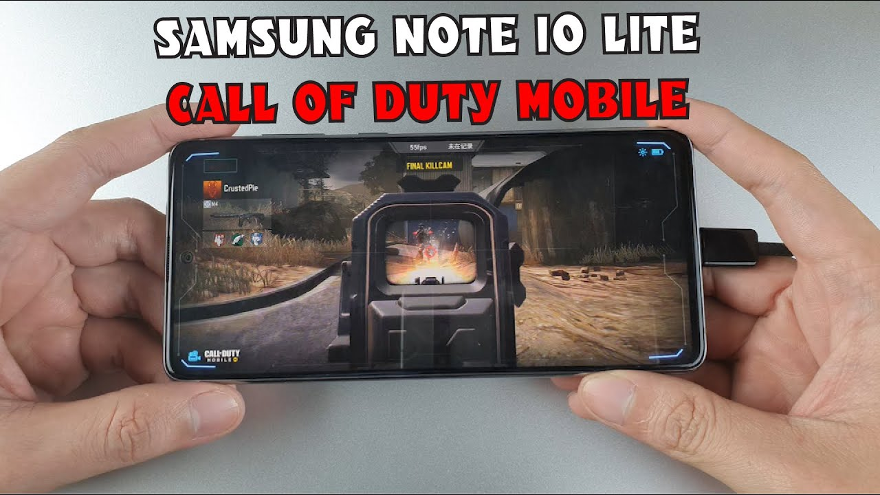 Samsung Note 10 Lite test game Call of Duty Mobile