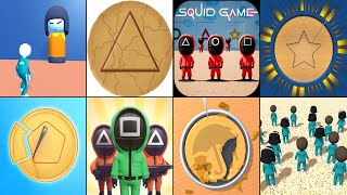 456 Survival game,Squid Game Candy Cookies,Squid Game 3D,Candy Crack Cookie Carver & Candy Challenge