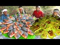- SILVER POMFRET Fish Fry | KERALA Special Fish Fry in Banana Leaf | SPECIAL KARIMEEN POLLICHATHU