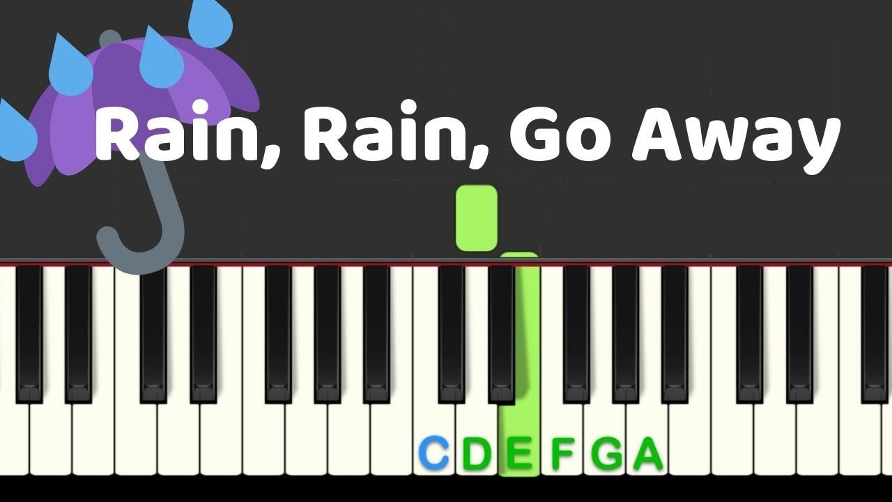 Rain Rain Go Away: easy piano tutorial with free sheet music