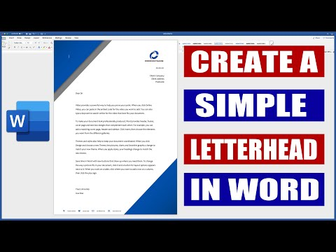 How To Create A Letterhead In Word | Microsoft Word Tutorials