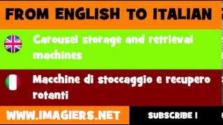 How to say Carousel storage and retrieval machines in Italian