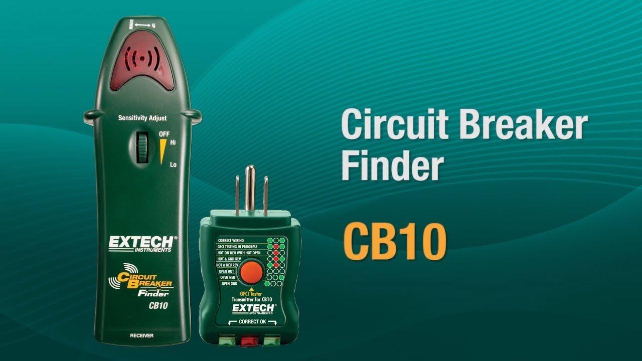 medium resolution of extech cb10 ac circuit breaker finder receptacle tester