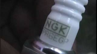NGK BPR6EGP G-POWER Platinum Alloy spark plugs on 2E engine toyota.mpg