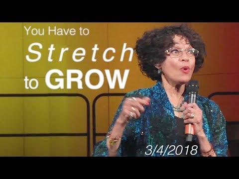 "SPIRITUAL GROWTH - Rev. Cynthia James - ""You Have To STRETCH To Grow"" - New Thought Sermon [ CSL ]"