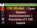 OSI Model - Open System Interconnection - Functions of 7 OSI Layers in Hindi