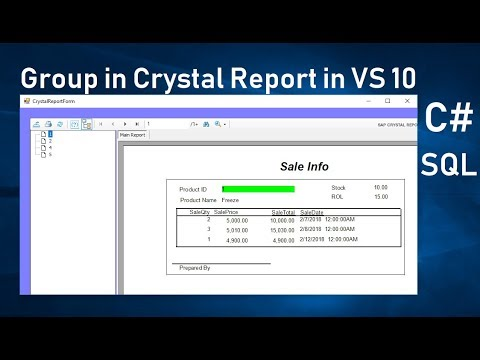 Grouping In Crystal Report In C# Part 2. Page Break In Crystal Report. Swift Learn