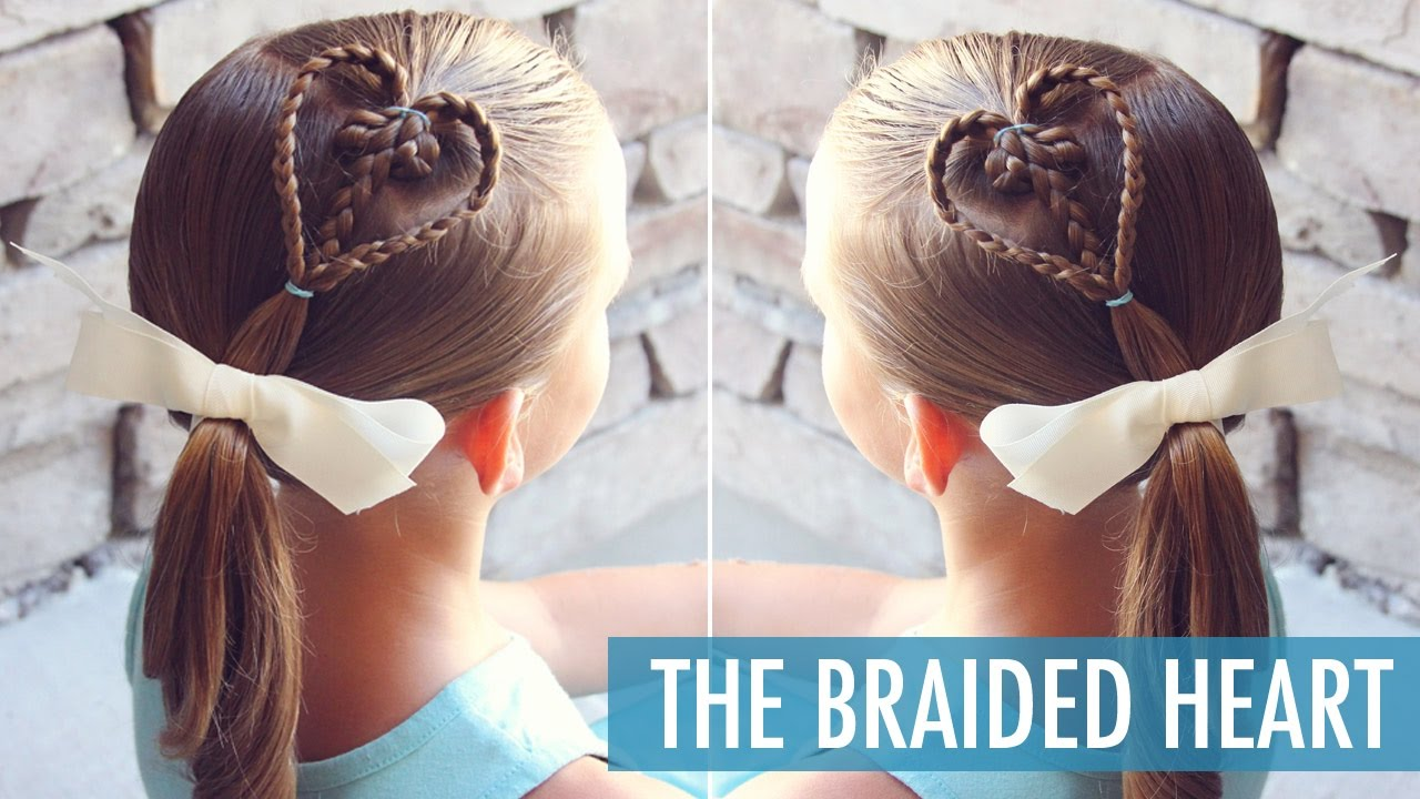 The Braided Heart Perfect Valentine's Day Hairstyle Little Girl Hairstyle