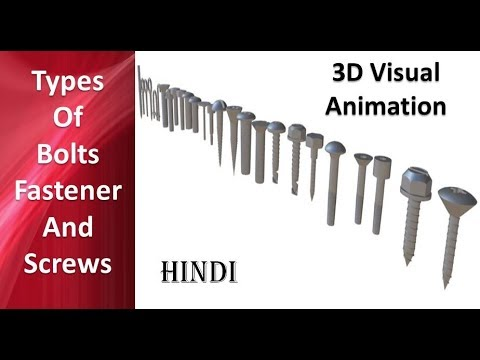 Download Types of Bolts, Fastener and Screws in Hindi