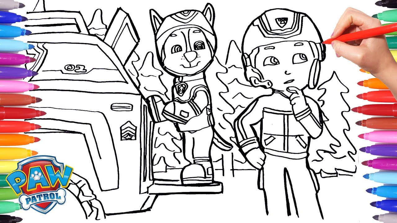 PAW PATROL Winter Rescue Coloring