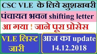 csc vle को पंचायत भवन शिफ्टिंग लेटर ! Csc-vle consent form for shifting in panchayat