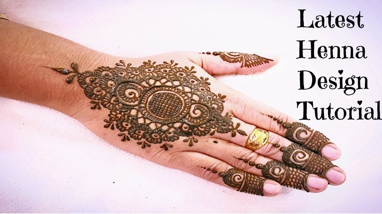 Best Easy Modern Henna Mehndi Design For Back Hand 2016 How To