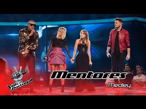 Marisa Liz Anselmo Ralph Aurea e Mickael Carreira cantam medley  Gala  The Voice Portugal