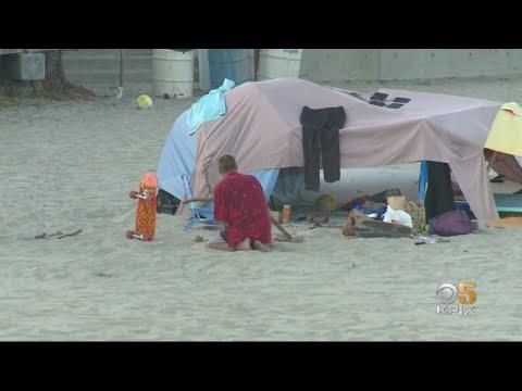 Santa Cruz Officials Pass Curfew To Remove Homeless Tents On Main Beach Overnight