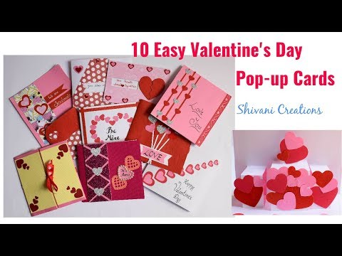 Valentine's Day Popup Cards in 10 Different ways/ 10 Easy Love Popup Cards