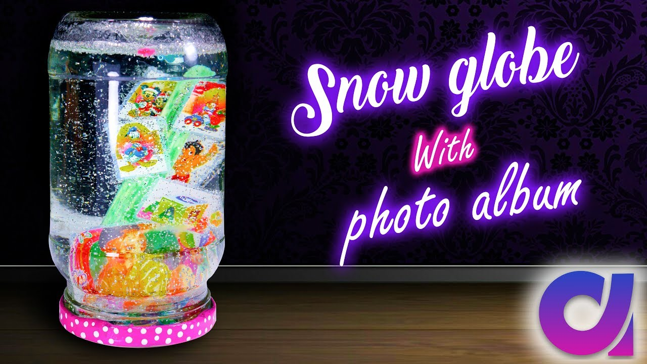 how to make snow globe with photo album inside the jar best out of waste artkala 203