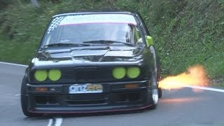 Amazing BMW 325 E30 with 3.0 Engine, Side Pipe, Sequential Gearbox at Hillclimb with Full Onboard
