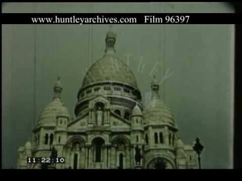Paris Montmartre And Sacre Coeur, 1950s - Film 96397