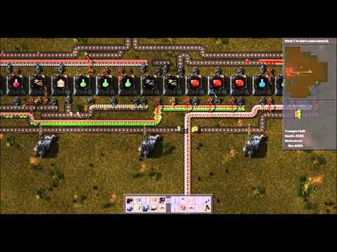 [Factorio] Red/Green/Blue Science Pack Factory