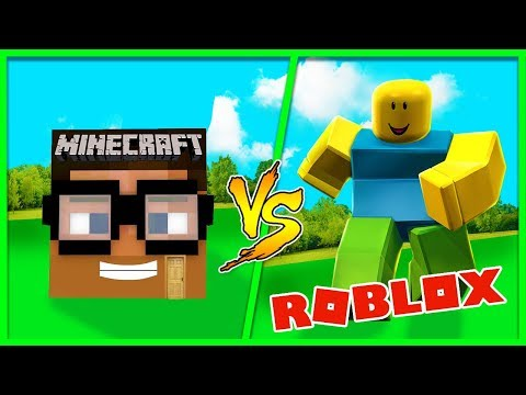 Minecraft - ROBLOX HOUSE VS MINECRAFT HOUSE - (House vs House Challenge)