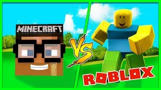 Minecraft - ROBLOX HOUSE VS MINECRAFT HOUSE - (House vs House Challenge)